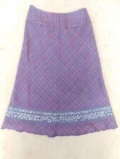 Monsoon wool blend heather skirt bias cut lined UK 8 W26 L28.5 Spring sequins