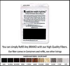 Samson Best Hair Loss Concealer Building Fibers DARK BROWN 25g Refill Made USA