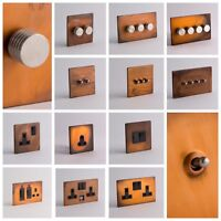 DESIGNER SOCKETS AND SWITCHES - Tarnished Copper with Silver