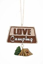 LOVE CAMPING Tent & Sign Christmas Ornament, by JWM