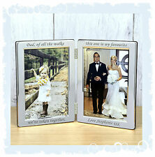 Father of the Bride engraved personalised wedding favour keepsake frame #7