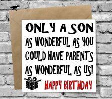 WONDERFUL SON HAPPY BIRTHDAY GREETINGS CARD LOVE FUNNY RUDE HUMOUR COMEDY