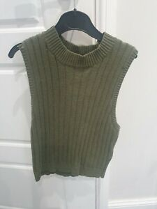 Forever 21 Small Khaki Knit Crop