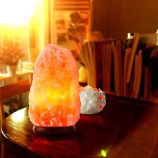 Himalayan 2-3kg Natural Rock With UK Lead & Bulb Salt Lamp on Wooden Base
