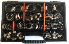 100 x Schlauchschellen  Edelstahl Werkstoffklasse W2 / Sortimentkasten  DIN 3017