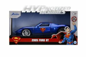 JADA 1:32 SUPERMAN 2005 FORD GT DIE-CAST BLUE/RED 31717