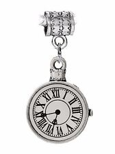 Stopwatch Non-Working Clock Watch Time Dangle Charm for European Slide Bracelets