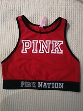 - Pink NATIONAL BY VICTORIA'S SECRET Cotton SPORTS BRA  SMALL RED