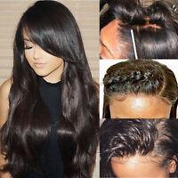 Silk Base Virgin Brazilian Human Hair Full Lace Natural With Baby Hair Body Wavy