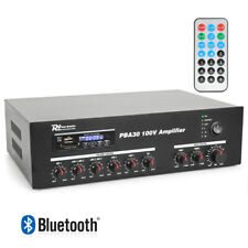 Power Dynamics PBA30 100V Line USB SD Amplifier MP3 Bluetooth Remote Control 30W