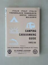 VINTAGE 1965 AA BOOKLET - CAMPING CARAVANNING GUIDE - ITALY GREECE BULGARIA