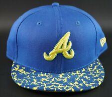 New Era 9FIFTY Team Pad Atlanta Braves Blue / Yellow Adjustable Snapback