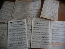 LOT PARTITIONS POUR PIANO TROMPETTE CLARINETTE SAXO ACCORDÉON GUITARE
