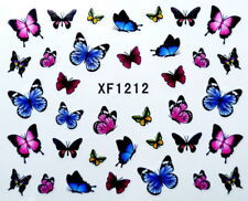 Colorful Butterfly Water Transfer Printing Nail Sticker 1212