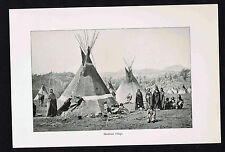 Shoshone Village with Teepees - 1894 Historical Print