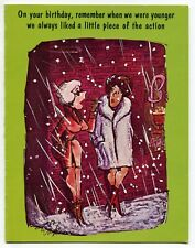 """1975 Playboy Magazine Greeting Card: Two Prostitutes - """"Piece Of The Action"""""""