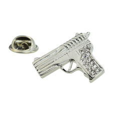 Pistol Lapel Pin Badge X2AJTP736