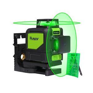 Huepar 902CG Self-Leveling 360-Degree Cross Line Laser Level with Pulse Mode,...