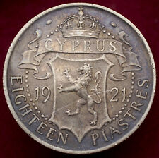 More details for cyprus 18 piastres 1921 (h2708)