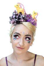 Twin Yellow Pony Pom Pom Flower Crown Festival Rave Garden Party Headdress e