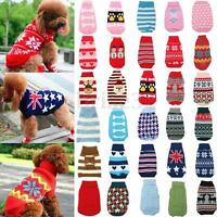 Pet Cat Dog Puppy Warm Knit Coat Clothes Sweater Vest Jacket Apparel Costume