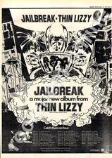 Thin Lizzy Jailbreak Southampton University LP Tour advert 1976