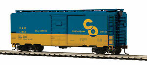MTH Chesapeake & Ohio 40 Foot PS-1 Boxcar Road Number C&O 12865 Blue and Yellow