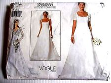 Vogue Sewing pattern no. 2085 Ladies Wedding Dress size 6-8-10