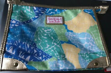 Brand New Lilly Pulitzer Estee Lauder Makeup Bag Cosmetics Zippered Blue Green