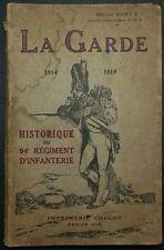 Historique du 94° Régiment d'Infanterie / Guerre 14-18 / 1920