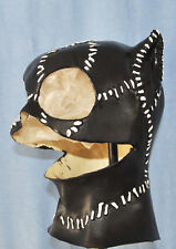 Meow Long Cat Hood Foam Latex Mask Woman Rubber Masks