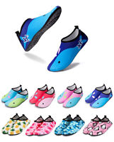 7ab3d3548caa7 Water Shoes Unisex Kids Aqua Shoes Quick Drying Socks Surf Swimming Diving  Beach