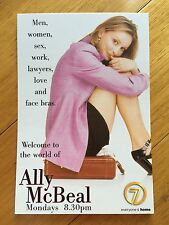 Ally McBeal Postcard, NEW Calista Flockhart 1998 Channel 7
