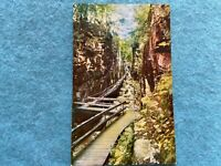 The Flume Gorge, Franconia Notch, New Hampshire Vintage Postcard