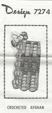 Crocheted Afghan Pattern (7274) Vintage New