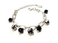 Bijou alliage argenté bracelet breloques signé Pilgrim bangle