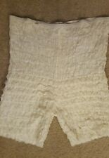 Ladies White Fancy Ruffles Bloomers Pantaloons Underpants Square Dancing Small