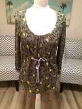 Boden Pretty Abstract Leaf Print Tunic Size 14