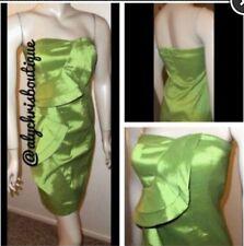 Jessica Simpson Women's Cocktail Fern Strapless Ruffle Dress Size 8 $138