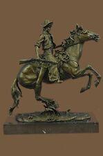 Remington Bronze Metal Arizona Cowboy Country Western Wild West Sculpture Statue
