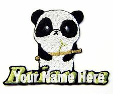Panda Custom Iron-on Patch With Name Personalized Free