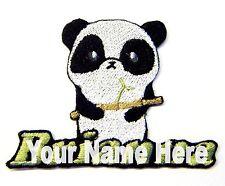 Panda Custom Hierro-Sobre Parche con Nombre Personalizado Gratis