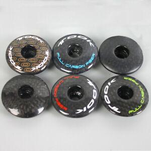 US MTB/BMX Bike Expander&Top Cap 1-1/8 in Carbon+Aluminum Alloy Bicycle Handsets