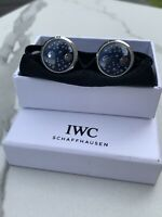 IWC Mens Spinning 'Double Moonphase' Cufflink Set - Brand New in Box