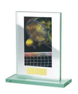 Glas-Pokal mit farbigem Hologramm (WH511-Tennis) inkl. Gravur nur 18,95 EUR