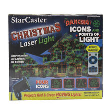 Starcaster Laser Projector Red/Green Rotating Christmas Patterns w Remote