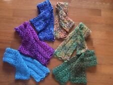 Hand Knit Scarf - with Varigated Colors - Alpaca and Wool Blend Yarn