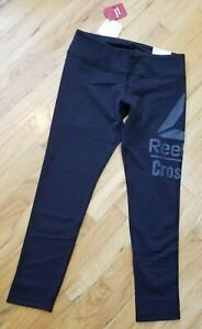 Reebok Crossfit Lux Tight Womens 7/8 Leggings Training Tights - Black Sz: M NWT