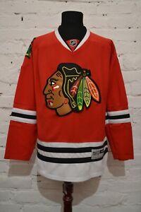 CHICAGO BLACKHAWKS HOCKEY JERSEY MENS L REEBOK RED NHL SHIRT