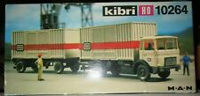 Kibri 10264 Container Lorry w/Trailer - HO Scale